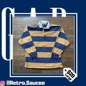 Vintage GAP Striped Longsleeve Polo Shirt